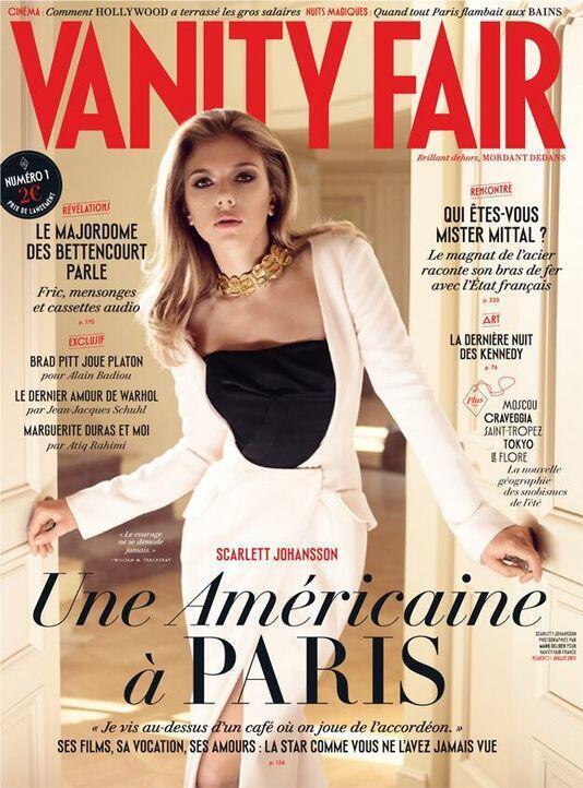 """Capa do primeiro número da versão francesa da """"Vanity Fair"""" que chega às bancas francesas na quarta-feira 26.06.2013."""