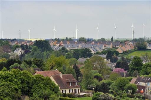 Wind turbines in Normandy.