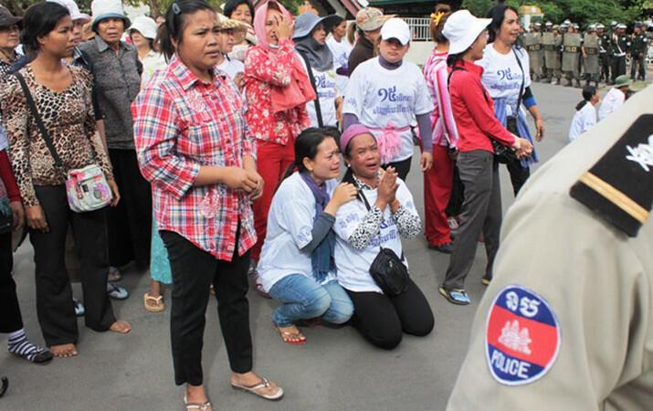 Dân Cam Bốt phản đối chính quyền chiếm đoạt đất đai