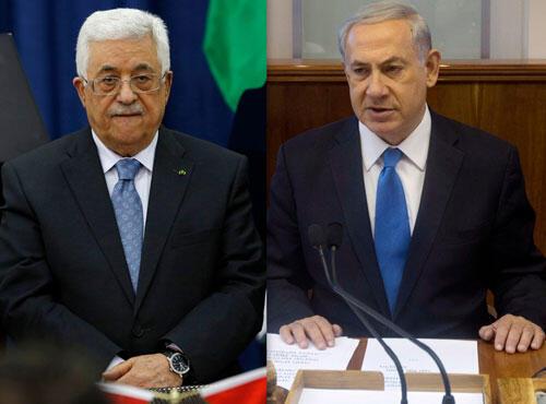 Mahmud Abbas na Falesdinawa da  Benjamin Netanyahu Firaministan Isra'ila