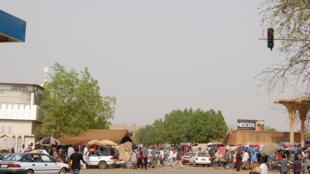 Abords du Grand marché, à Niamey, en 2006.