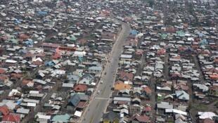 Vue aérienne de Goma.