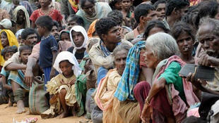 Ethnic Tamil civilians displaced during the fighting last year