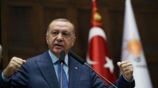 土耳其總統埃爾多安Recep Tayyip Erdogan2020年8月21日資料圖片