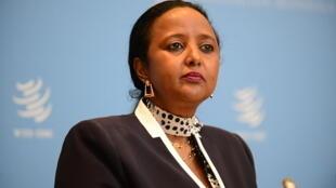 Amina Mohamed, ex-ministre des Affaires étrangères du Kenya, est candidate à la présidence de l'OMC.