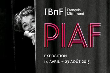 Cartaz da exposição consagrada a Edith Piaf em Paris, Biblioteca nacional de França
