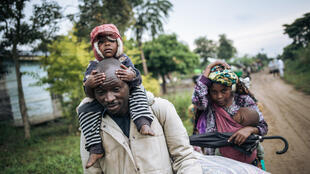 Just a few of the 482,000 people forced to flee clashes between armed groups and the military in DR Congo