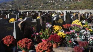 Un cimetière en France.