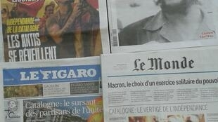 Imprensa francesa do dia 9 de Outubro de 2017