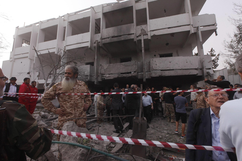 La embajada francesa en Trípoli después del atentado, el 23 de abril de 2013.