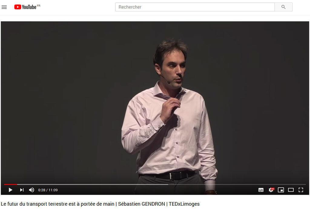Le Français Sébastien Gendron dirige la société Transpod, qui envisage de construire l'Hyperloop (capture d'écran).