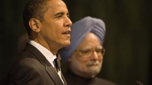 Le président américain Barack Obama et le Premier ministre indien Manmohan Singh.