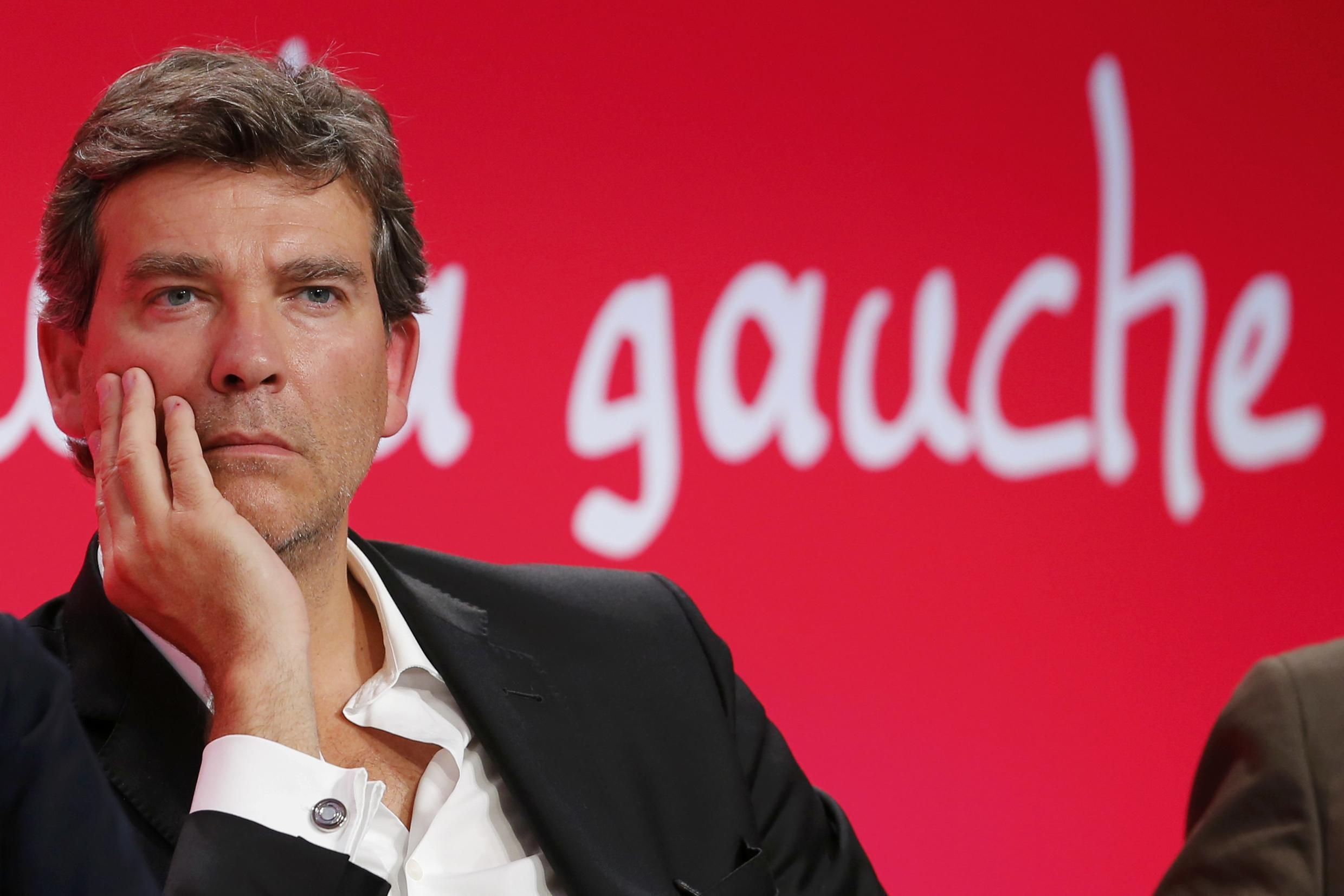 File photo of French politician Arnaud Montebourg, who announced his candidacy for the 2017 French presidential election.
