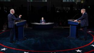 Donald Trump and Joe Biden debate in Cleveland on September 29, 2020