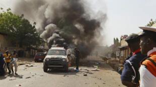 Gombe a fait l'objet d'un attentat juste après la visite du président Goodluck Jonathan le 2 février.