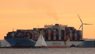 یک کشتی باری شرکت مرسک
