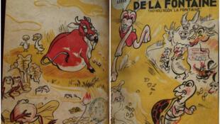 Bìa trang nhất và trang bốn, bản dịch Thơ ngụ ngôn La Fontaine (Les Fables de La Fontaine), của dịch giả Nguyễn Văn Vĩnh, năm 1943, BNF.
