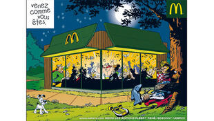 Asterix and chums feasting in McDo