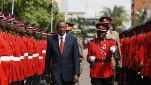 Le président Uhuru Kenyatta, à Nairobi, le 16 avril 2013.