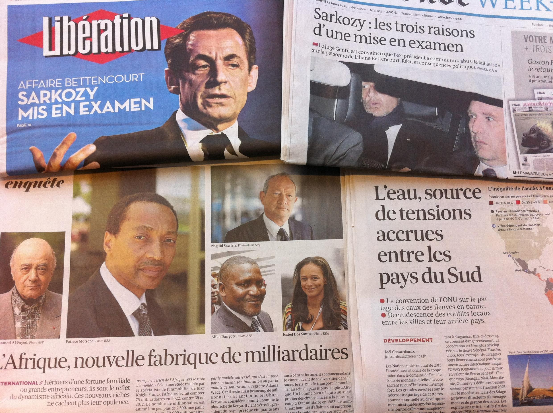 Capas dos diários 20-03-2013