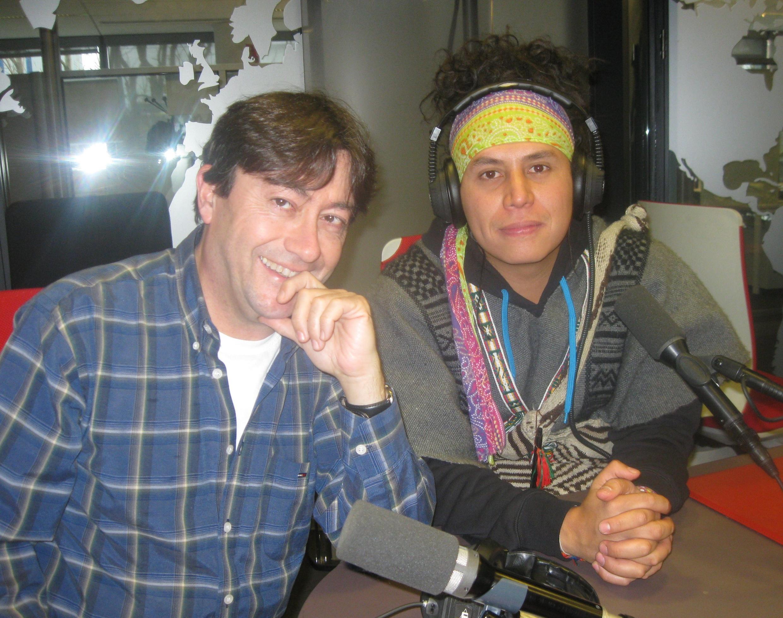 Juan Pablo Gutiérrez (derecha) y Jordi Batallé en nuestros estudios.