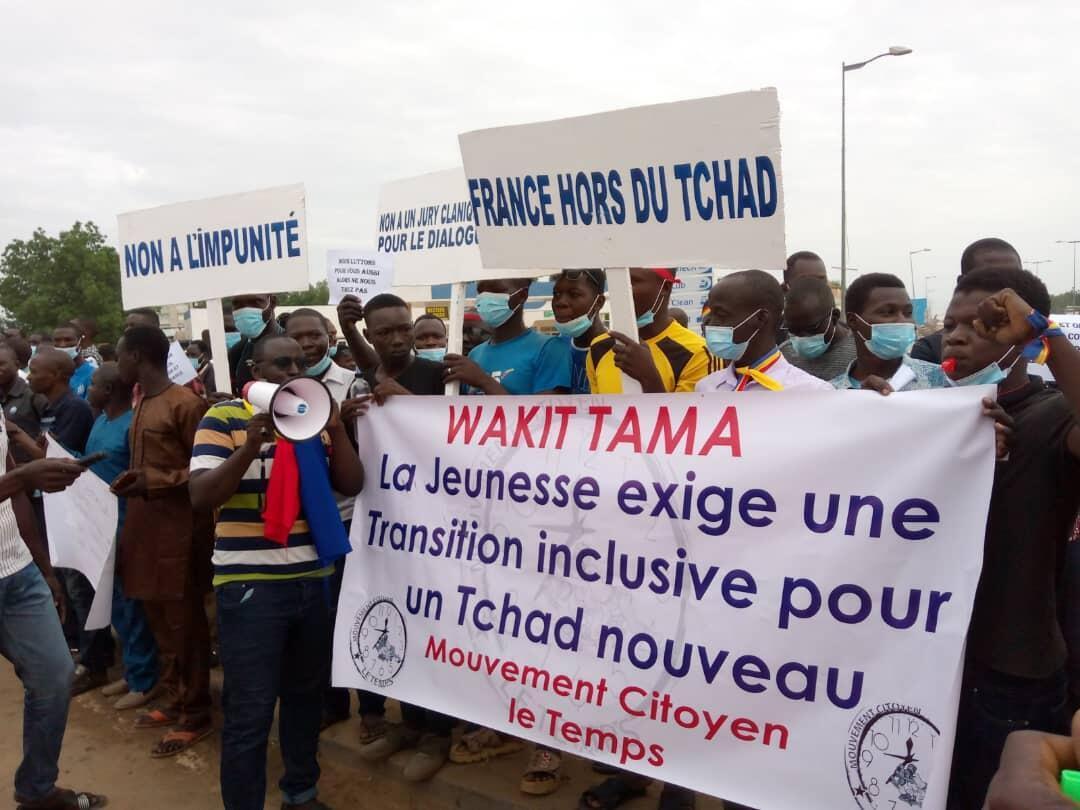 IMAGE Manifestation de l'opposition à Ndjamena, Tchad, le 29 juillet 2021.