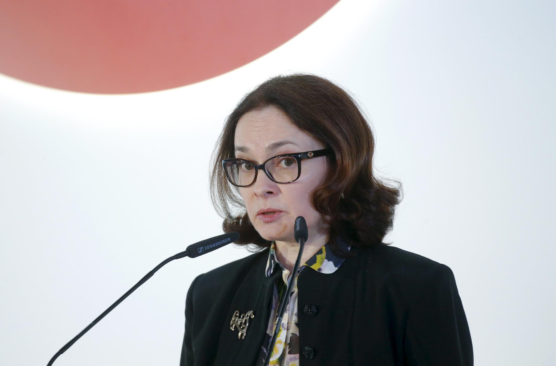 Thống đốc Ngân hàng trung ương Nga, Elvira Nabiullina tại diễn đàn St Petersbourg 2015