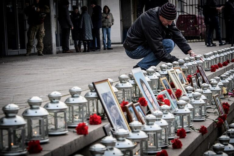 Акция в память о жертвах теракта в Театральном центре на Дубровке, 26 октября 2017.