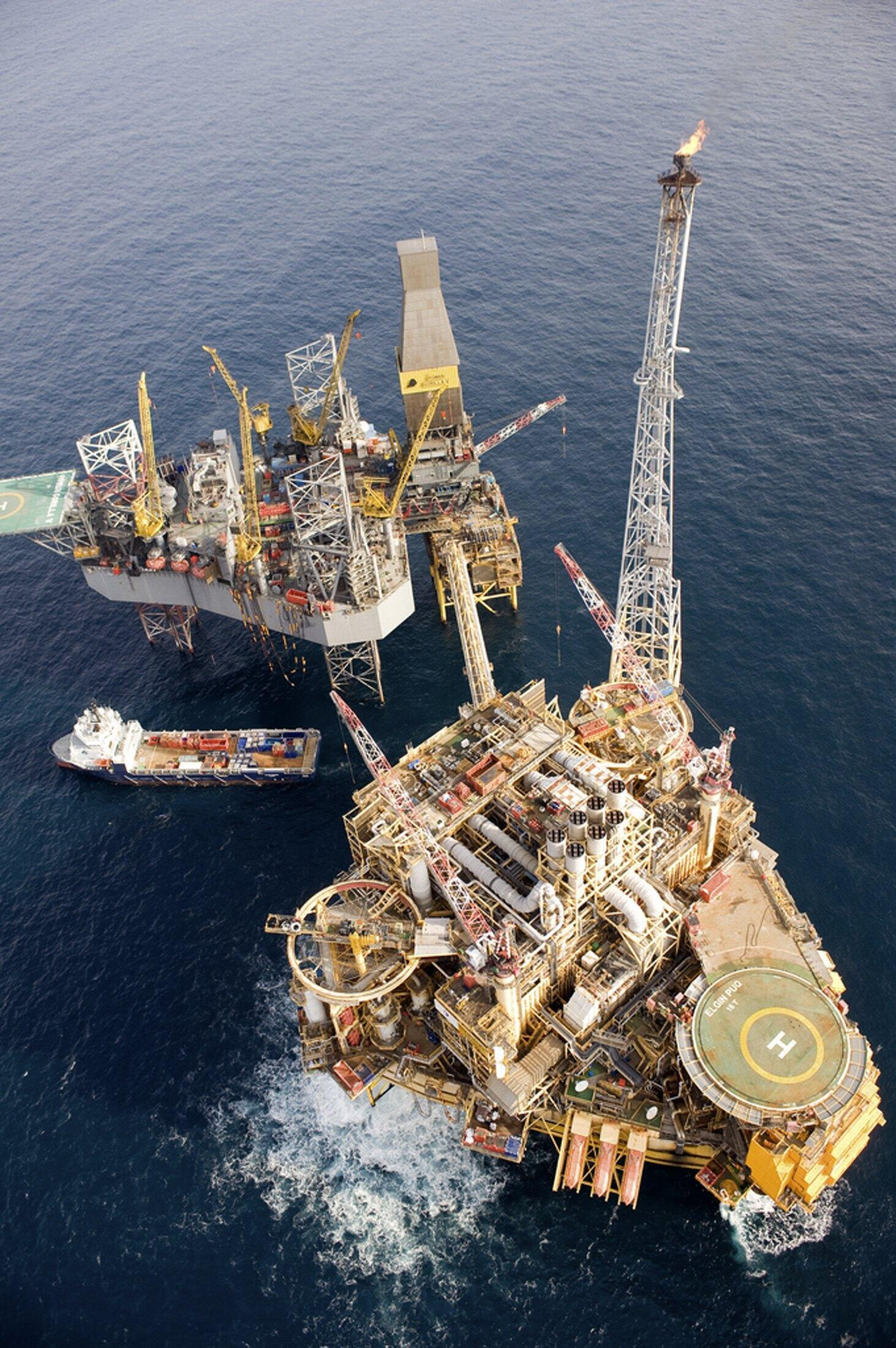 A plataforma da empresa Total no Mar do Norte.