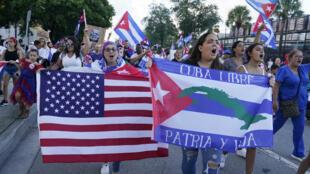Cuba Etats-Unis Manifestations