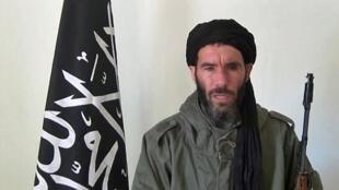 Hoton Mokhtar Belmokhtar, da aka ciro daga wani hoton video.