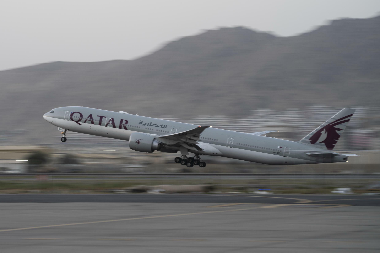 2021年9月9日,一架搭載外國人的卡塔爾民航飛機從阿富汗喀布爾機場起飛