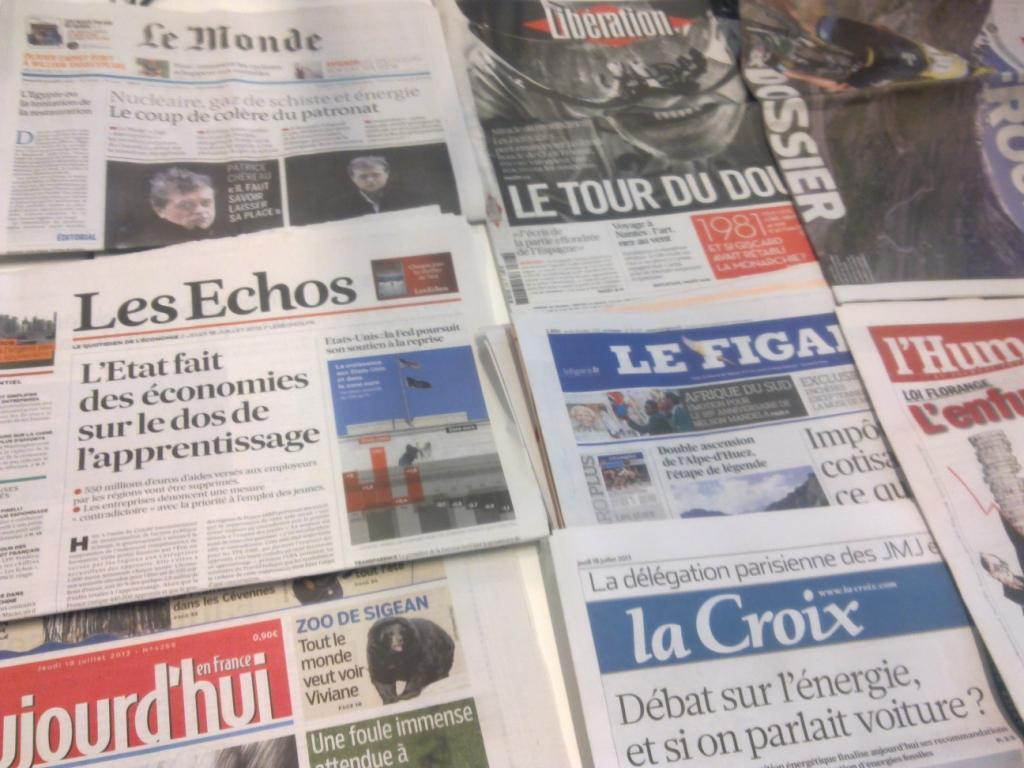 Diários franceses 18/07/2013