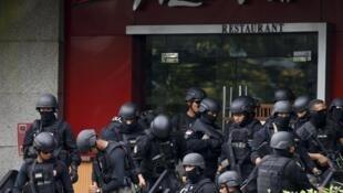 印尼首都雅加達市中心地區發生恐怖襲擊事件