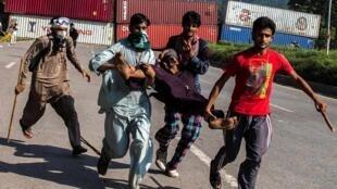 巴基斯坦反對派抗議者2014年8月31日伊斯蘭堡