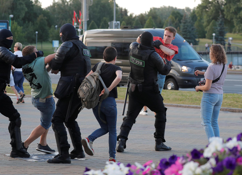 Задержания в Минске ранним вечером 10 августа 2020.
