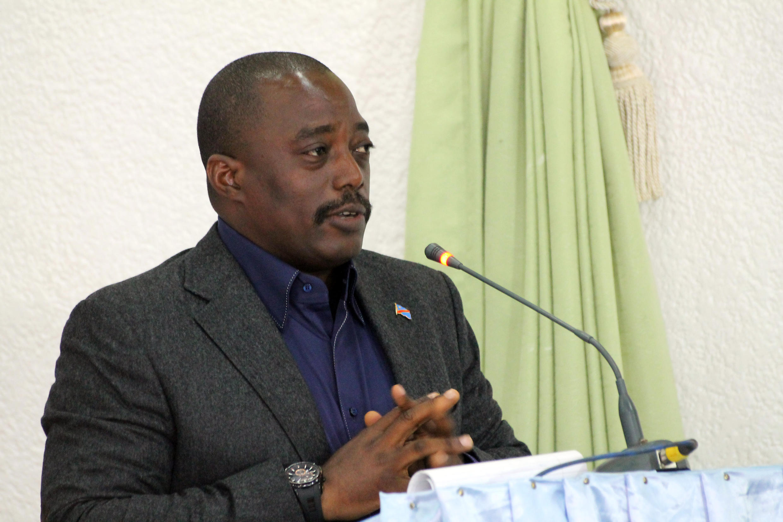 Le président congolais Joseph Kabila, en octobre 2014 à Beni. (Photo d'illustration)