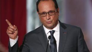 Le président français, François Hollande à l'Elysée.