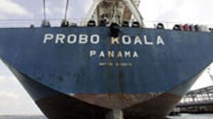 Probo Koala, le navire qui a déversé des déchets toxiques dans la nuit du 19 août 2006, à Abidjan en Cote d'Ivoire.