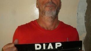 Rocco Morabito, durante su arresto en Montevideo, una imagen tomada el 5 de septiembre de 2017 y divulgada por el Ministerio del Interior uruguayo el 24 de junio de 2019