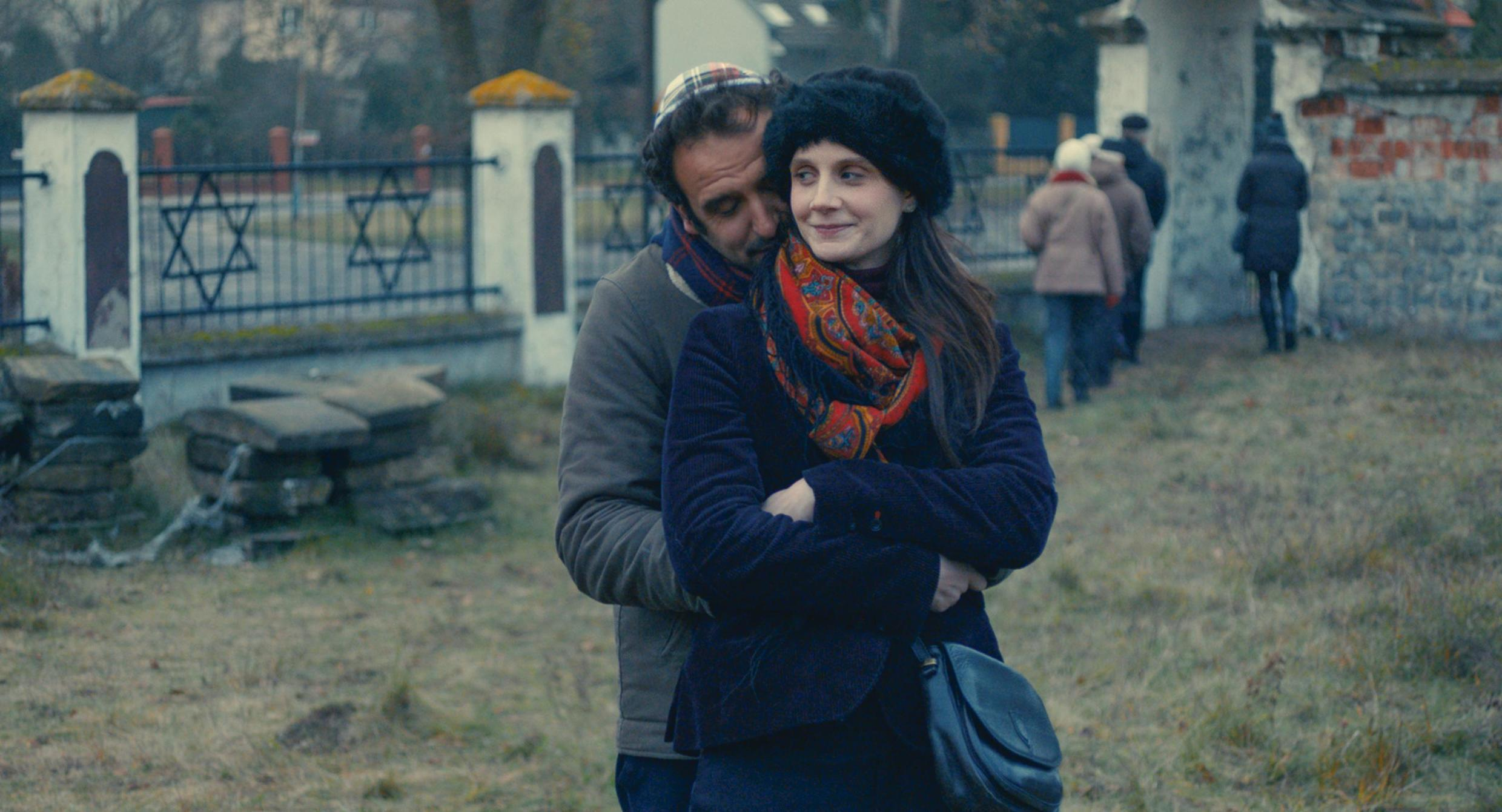 Anna (Judith Chemla) and Adam (Arthur Igual) in My Polish Honeymoon in love but at odds over roots issues