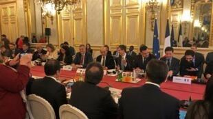 Le Groupe international de soutien au Liban à Paris, le 11 décembre 2019.