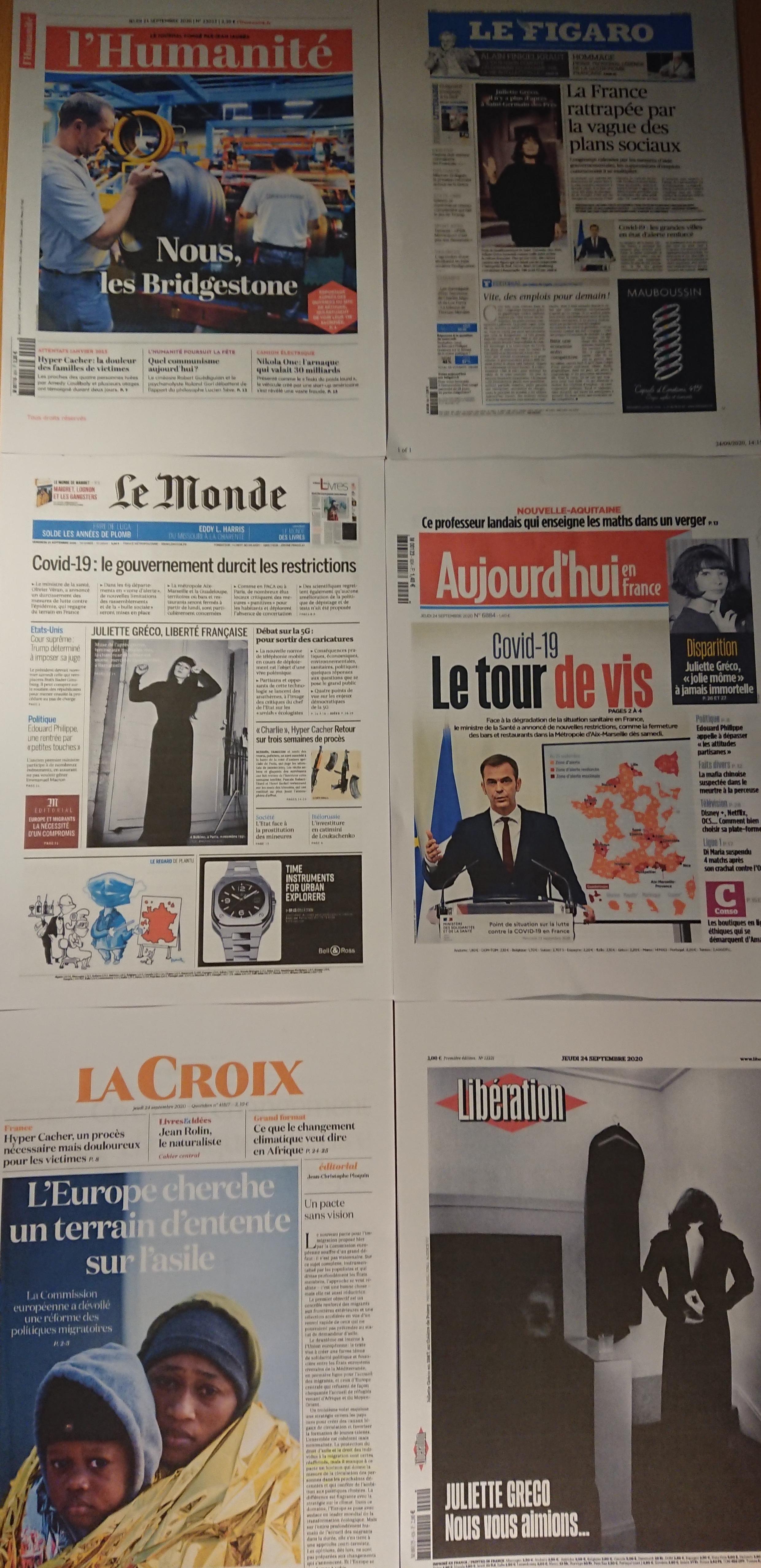 Diários franceses 24 09 2020