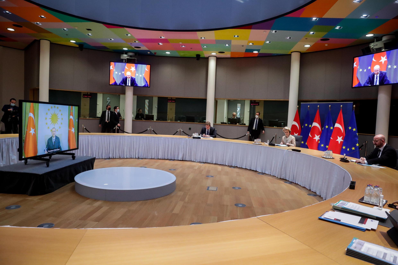 Мини-саммит ЕС-Турция через видеоконференцию 19 марта 2021.