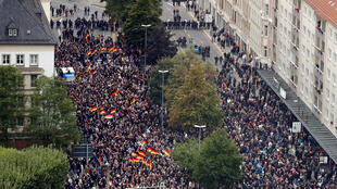 Thousands of protesters take to the streets of Chemnitz, east Germany, September 1, 2018