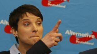Frauke Petry, présidente du parti d'extrême droite allemand AfD.