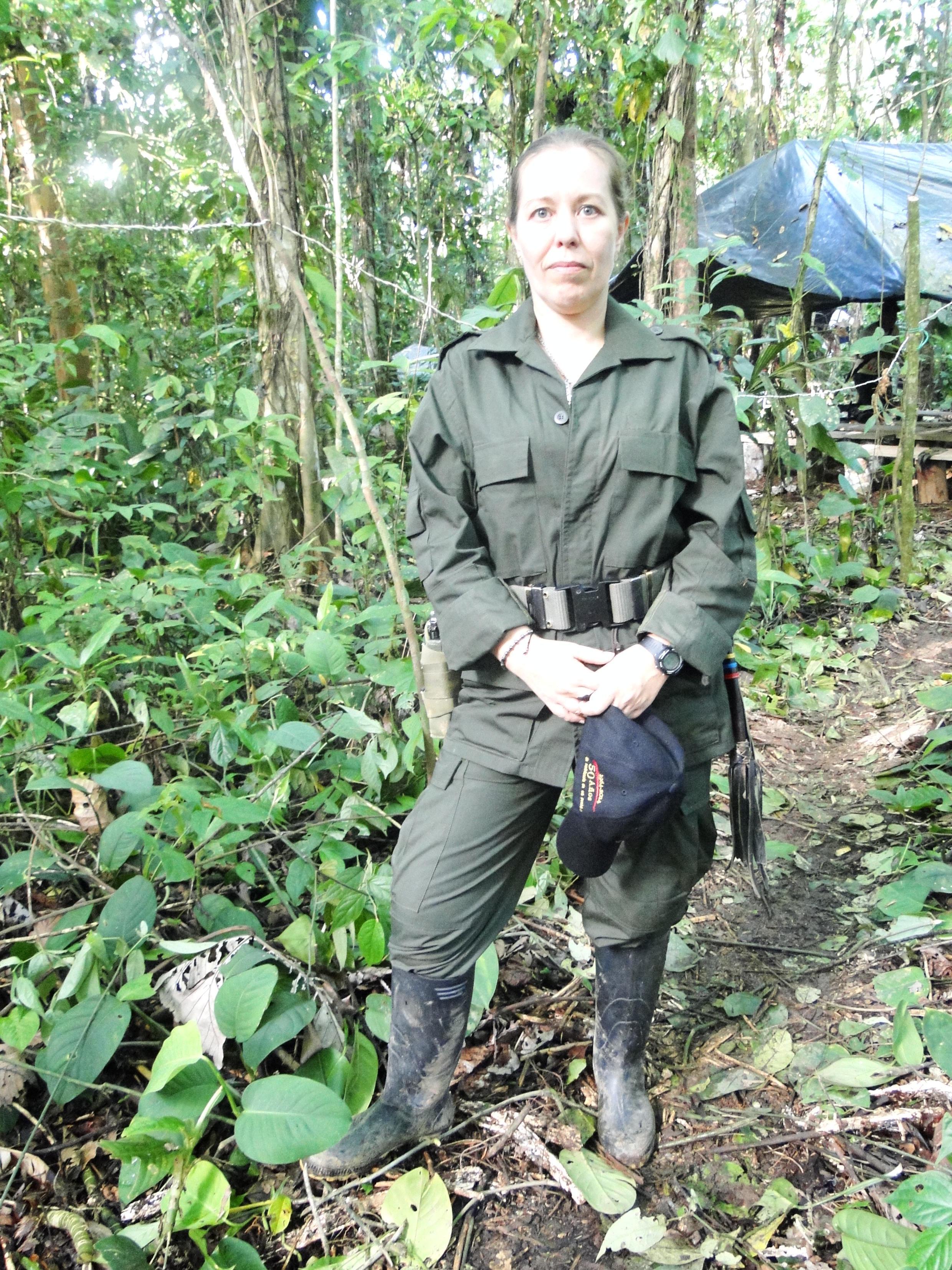 Nathalie Mistral, originaire de Montpellier, membre du Front 57 des FARC, dans le département de Chocó, dans le nord-ouest de la Colombie.