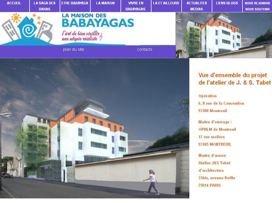 Site internet de la masion des Babayagas.