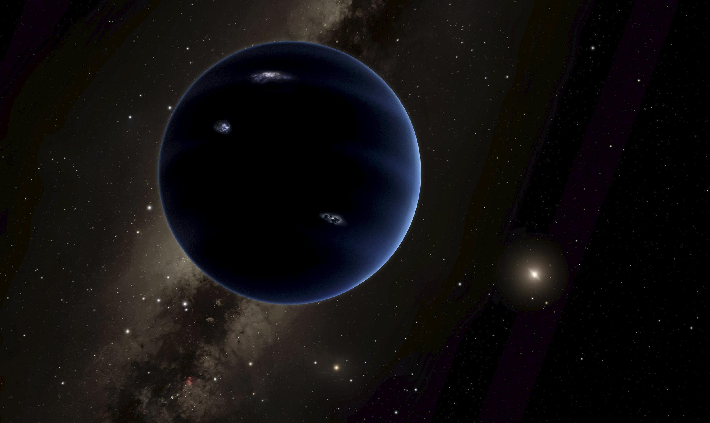 Una versión artística de lo que podría ser este noveno planeta en nuestro sistema solar.