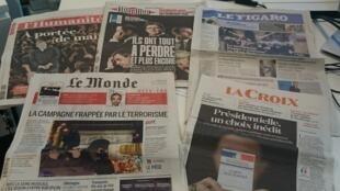 Diários franceses 21.04.2017